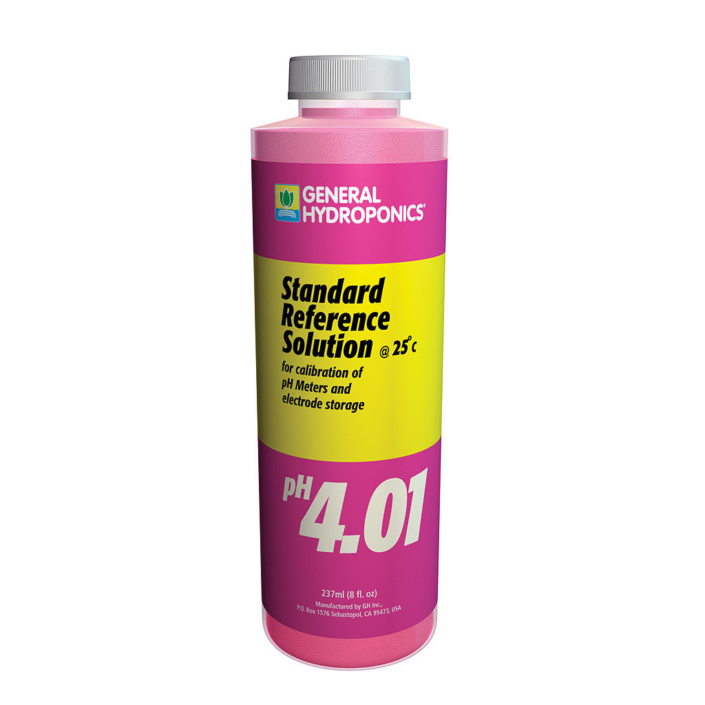 pH 4.01 Calibration Solution 8 ounce General Hydroponics - Pacific Coast Hydroponics Los Angeles