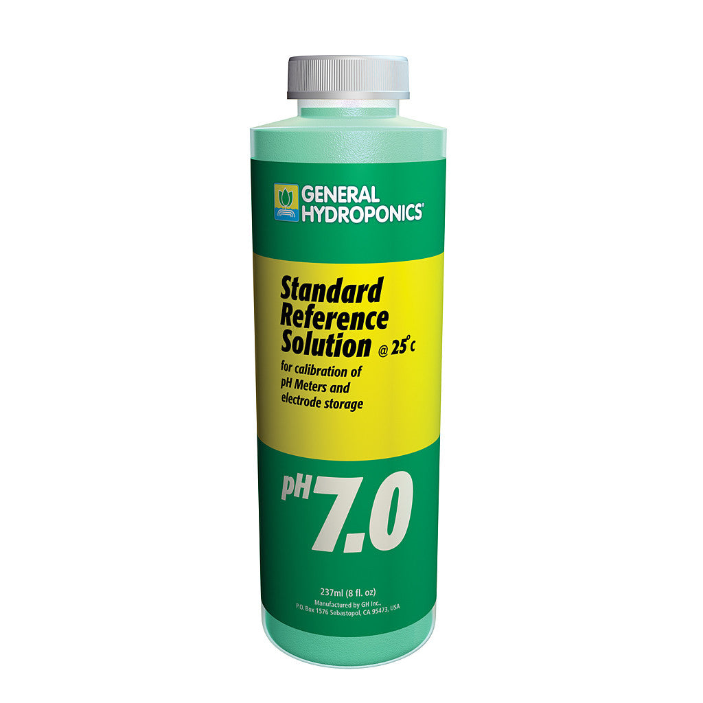pH 7.0 Calibration Solution 8 ounce General Hydroponics - Pacific Coast Hydroponics Los Angeles