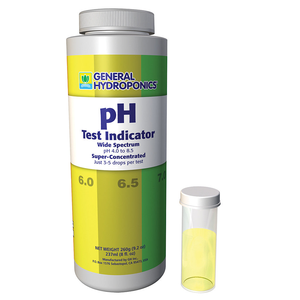 pH Test Indicator 8 ounce General Hydroponics - Pacific Coast Hydroponics Los Angeles