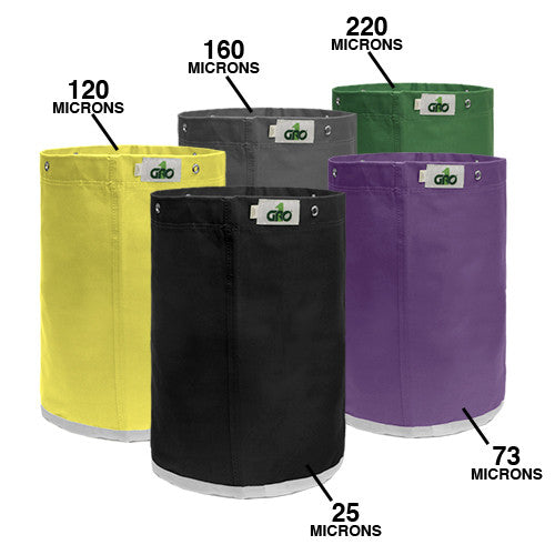 Gro1 5 Gal Bag Extraction Kit (Set of 5 Bags). Microns: 220, 160, 120, 73, 25 Gro1 - Pacific Coast Hydroponics Los Angeles