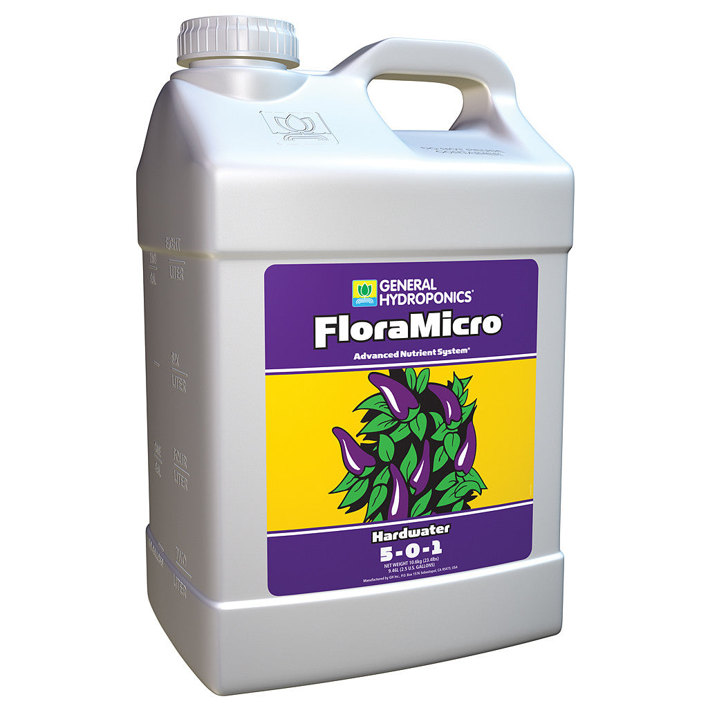 Hardwater FloraMicro 2.5 Gallon General Hydroponics - Pacific Coast Hydroponics Los Angeles