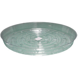 Clear Saucer 12 inch Generic - Pacific Coast Hydroponics Los Angeles