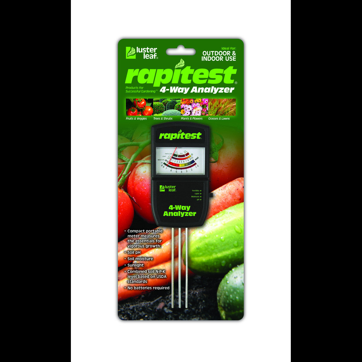 Rapitest Electronic 4-Way Tester Luster Leaf - Pacific Coast Hydroponics Los Angeles
