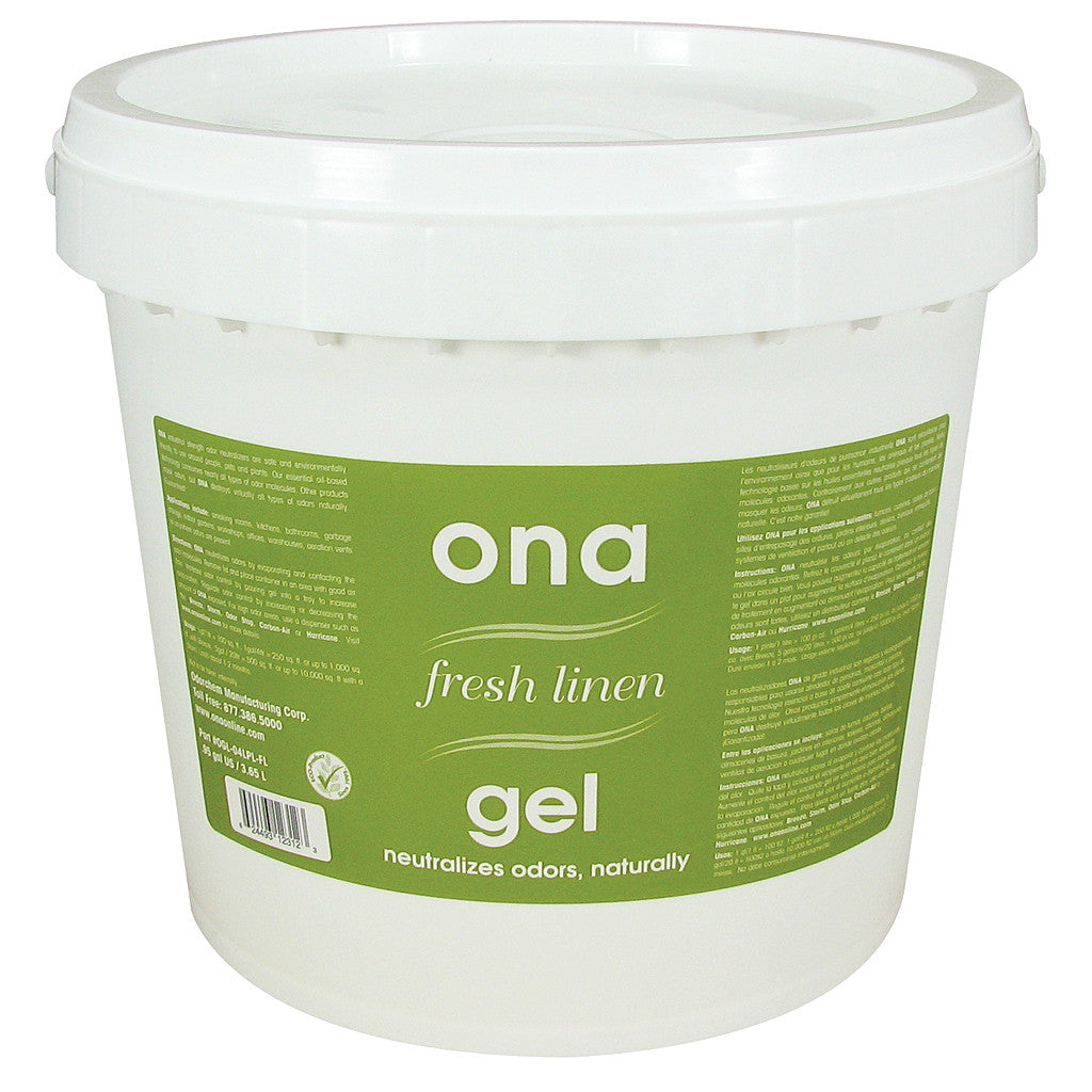 Ona Gel Fresh Linen 1 Gal Pail ONA - Pacific Coast Hydroponics Los Angeles