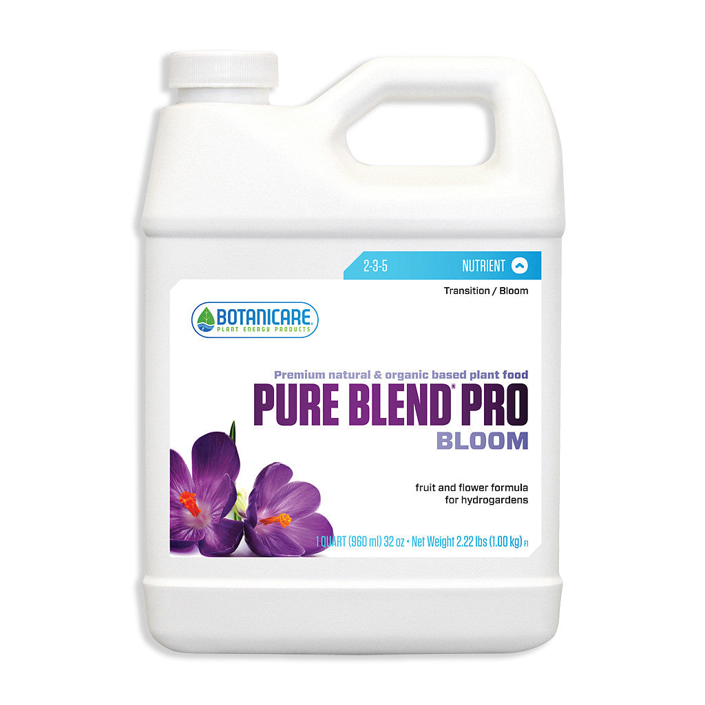 Pure Blend Pro Bloom 1 Quart Botanicare - Pacific Coast Hydroponics Los Angeles