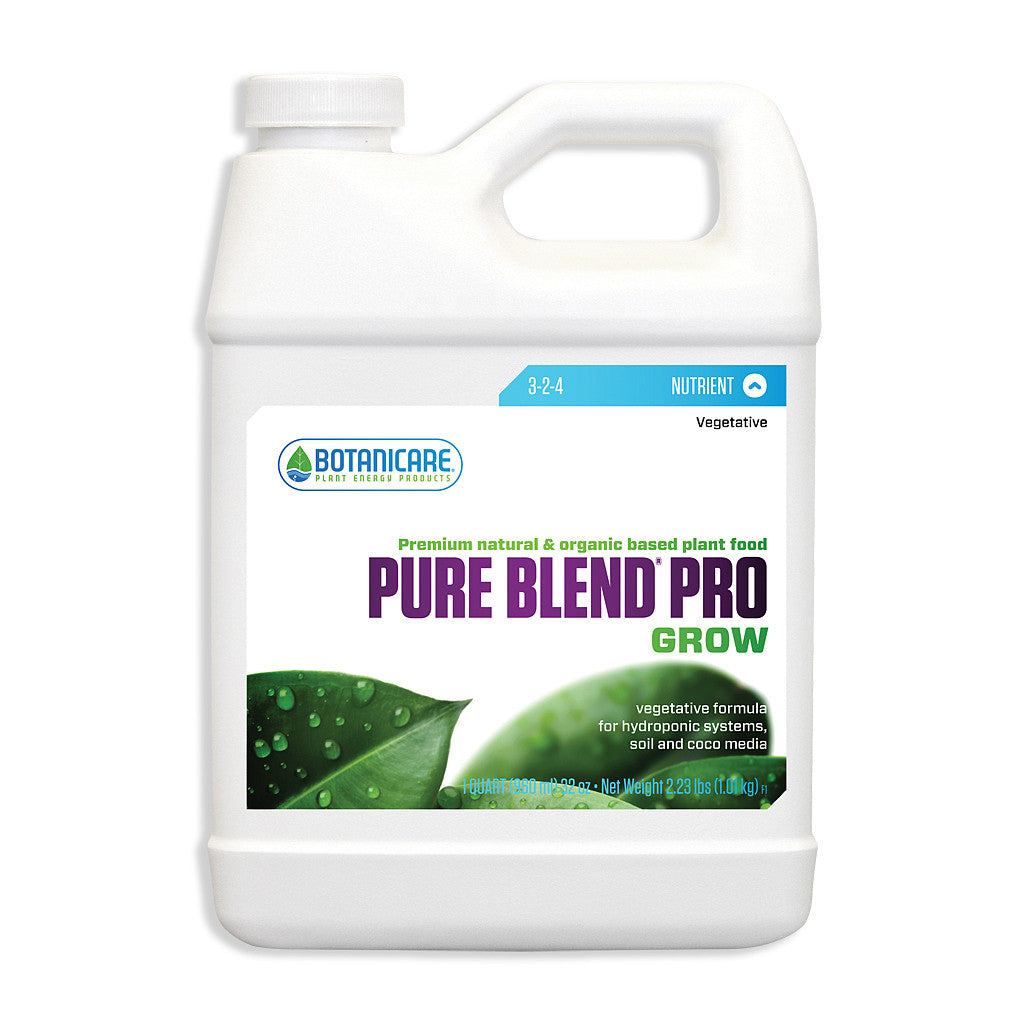 Pure Blend Pro Grow 1 Quart Botanicare - Pacific Coast Hydroponics Los Angeles