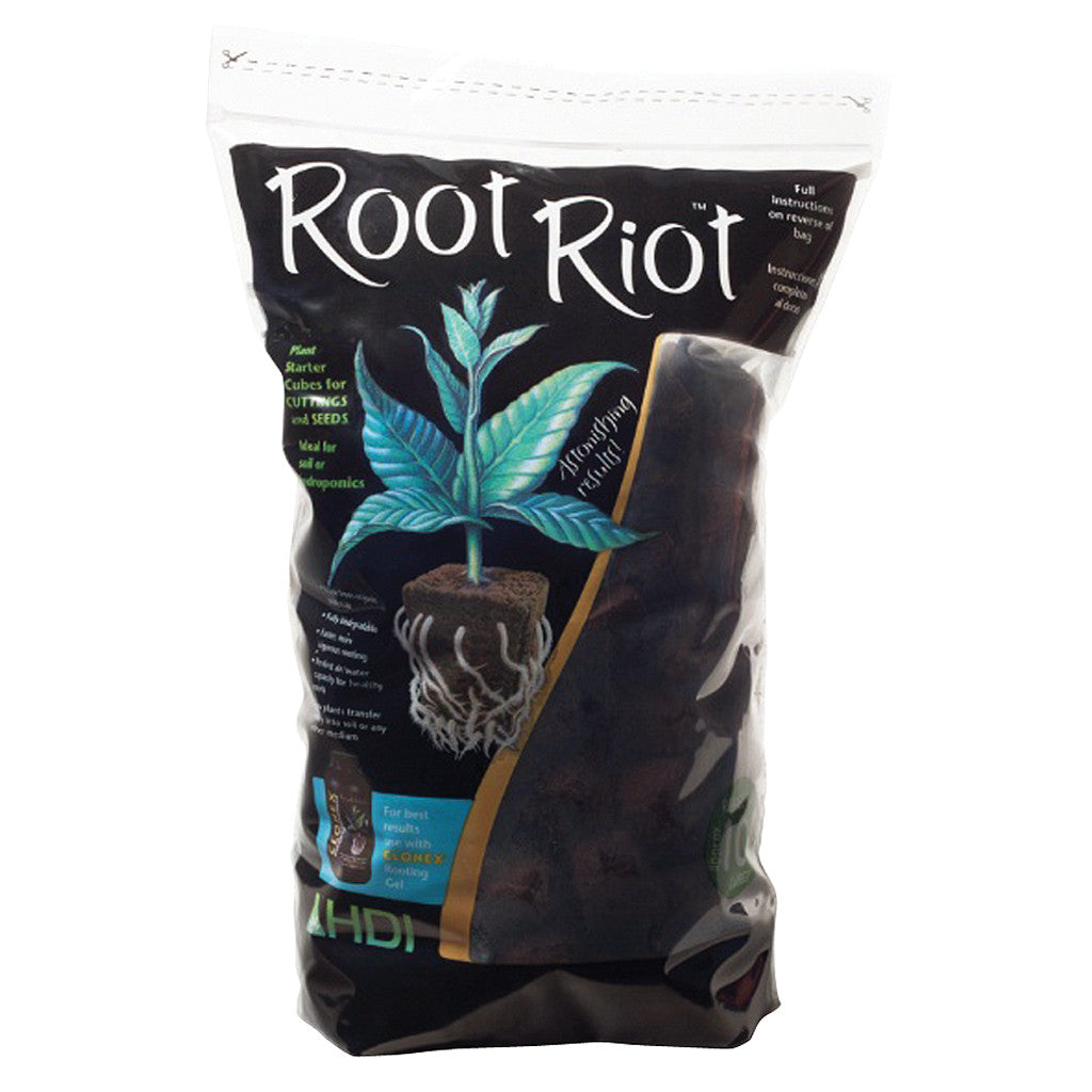 Root Riot Bag 100 count Root Riot - Pacific Coast Hydroponics Los Angeles