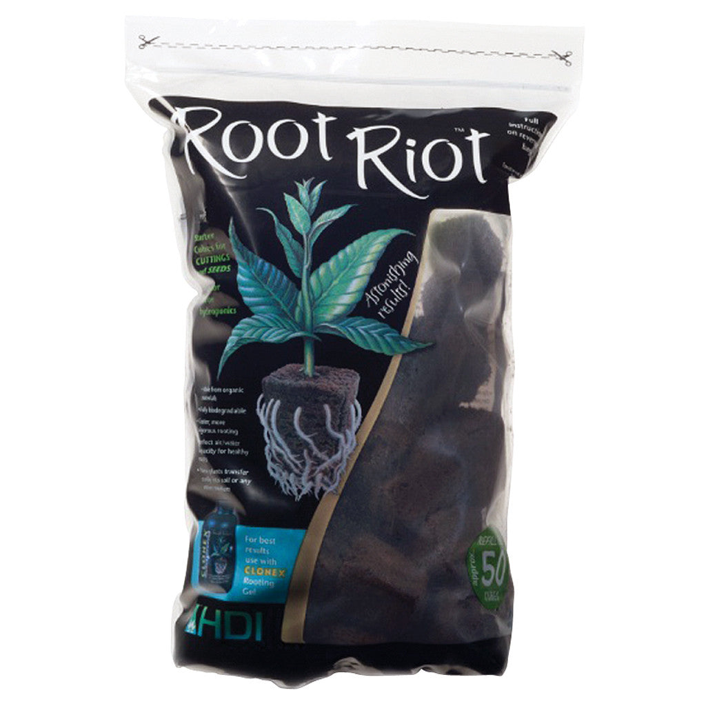 Root Riot Bag 50 count Root Riot - Pacific Coast Hydroponics Los Angeles