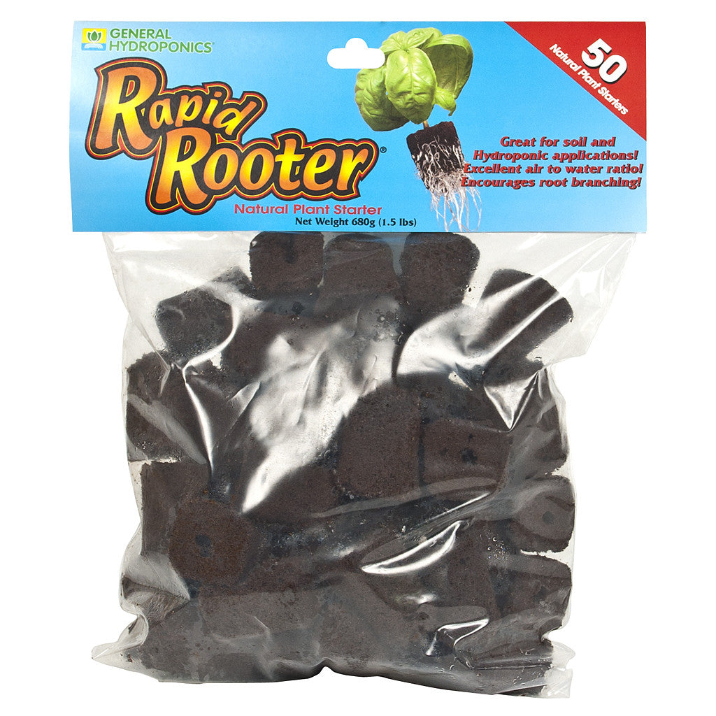 Rapid Rooter Plugs 50 Count Bag General Hydroponics - Pacific Coast Hydroponics Los Angeles