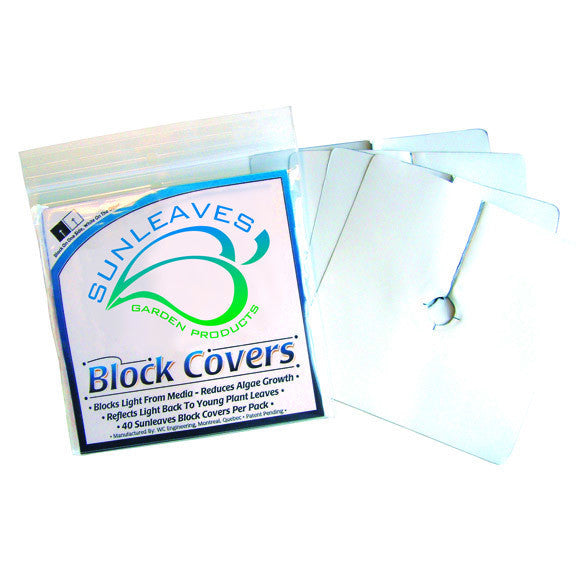 Block Covers Plastic 6 Inch Sunleaves - Pacific Coast Hydroponics Los Angeles