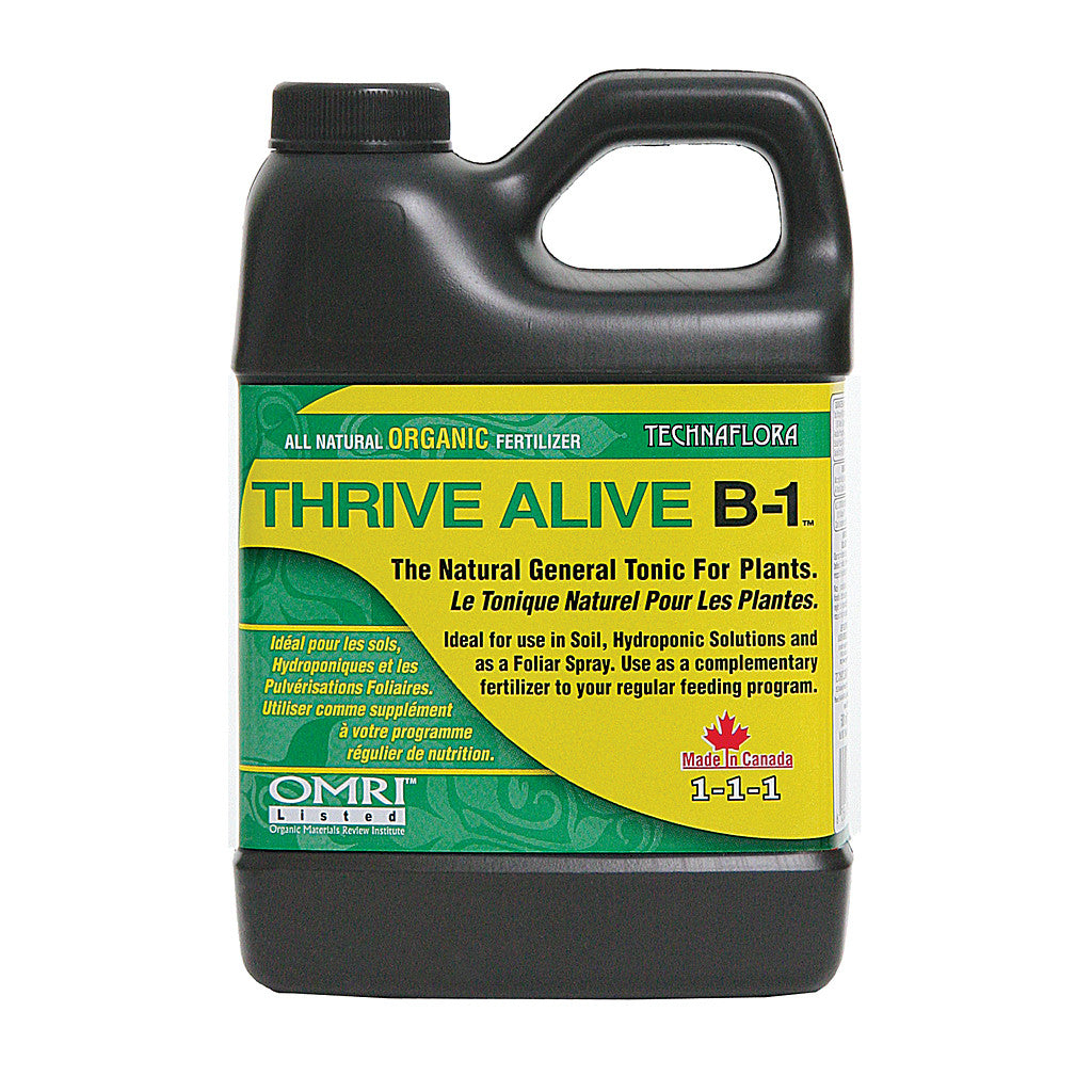 Thrive Alive B1 Green, 500ml Technaflora - Pacific Coast Hydroponics Los Angeles