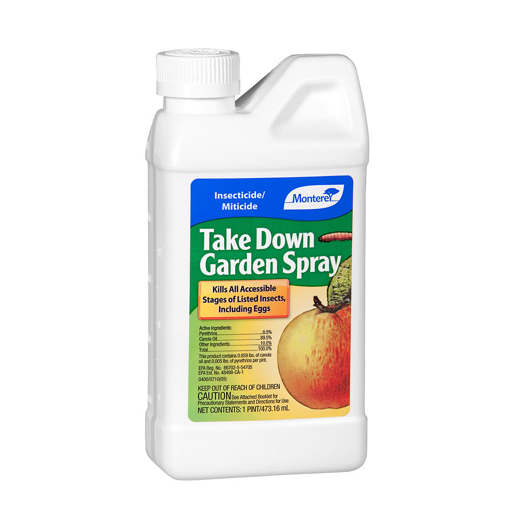 Take Down Concentrated Insecticide 1 Pint Monterey - Pacific Coast Hydroponics Los Angeles