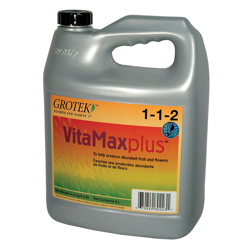 Vitamax Plus 4 Liter Grotek - Pacific Coast Hydroponics Los Angeles