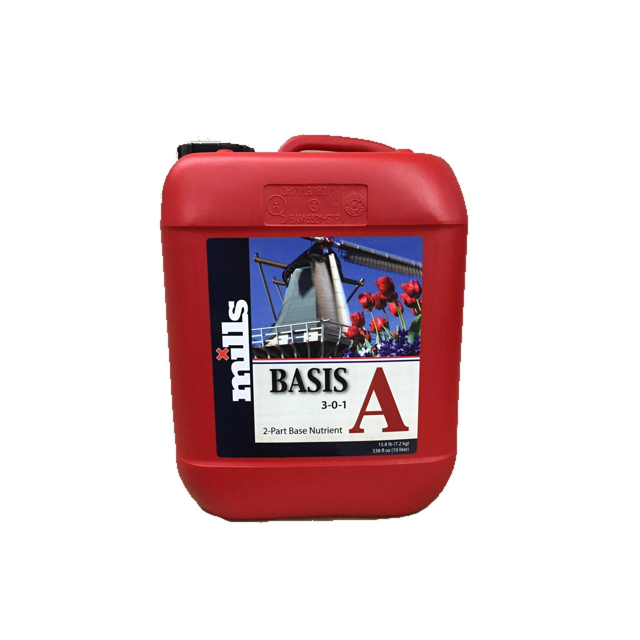 Mills Nutrients Basis A 10L Base Nutrient Mills Nutrients - Pacific Coast Hydroponics Los Angeles