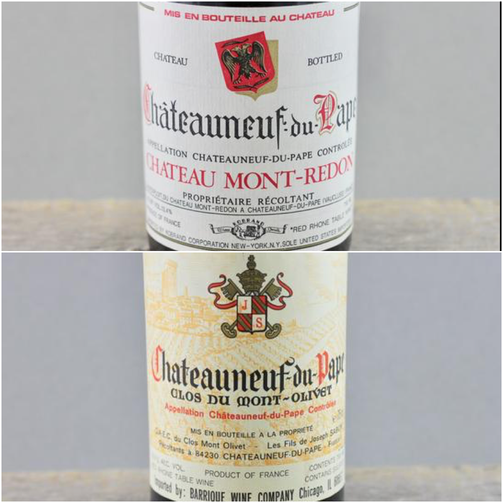 Chateauneuf du Pape's Greatest Hits of the 80's:  Mont-Redon & Mont-Olivet