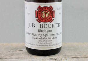 Rheingau Redux:  J.B. Becker 1990 through 2015
