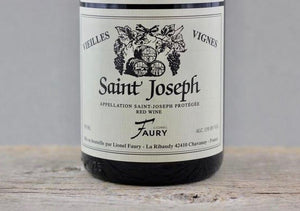 Syrah's Top Value on the Globe:  2017 Faury Saint Joseph Vielles Vignes