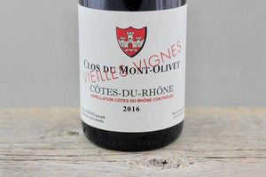 Côtes du Rhone at its Most Ethereal:  Clos du Mont-Olivet Vieilles Vignes