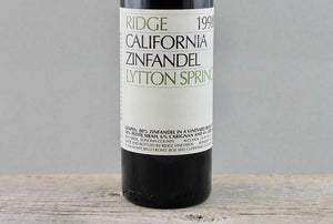 Aged Thanksgiving Treats:  Ridge Geyserville & Lytton Springs