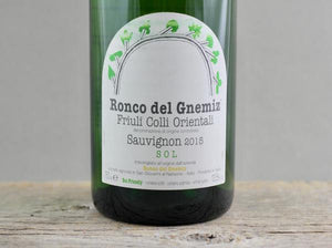 Maximum Tension:  2015 Ronco del Gnemiz Sauvignon Blanc SOL