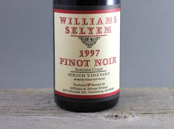 1997 Williams Selyem Hirsch Vineyard Pinot Noir