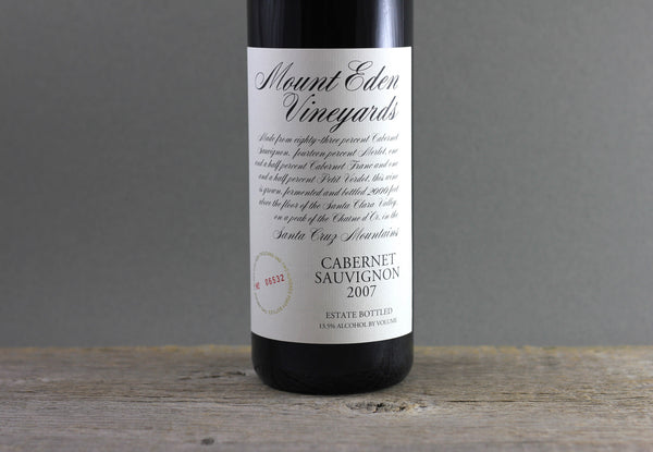 2007 Mount Eden Vineyards Estate Cabernet Sauvignon