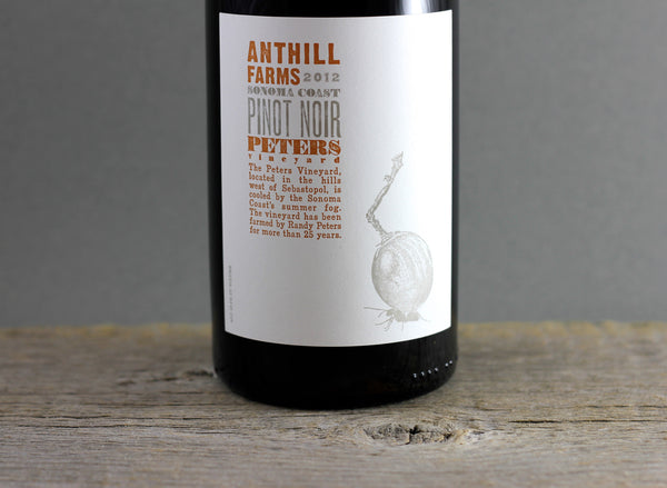 2012 Anthill Farms Peters Pinot Noir
