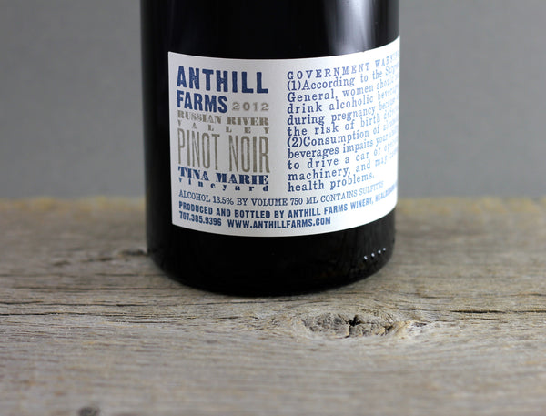 2012 Anthill Farms Tina Marie Pinot Noir