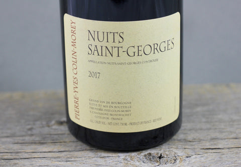 2017 Pierre Yves Colin-Morey Nuits Saint Georges