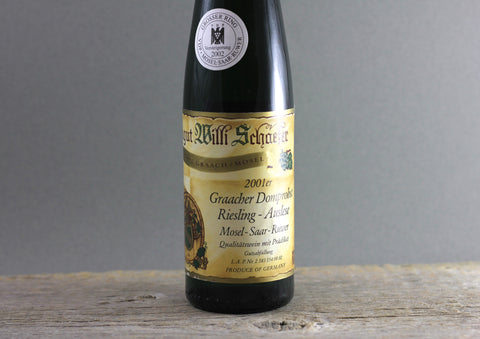 2001 Willi Schaefer Graacher Domprobst Riesling Auselse #8 Grosser Ring (Auction) 375ml
