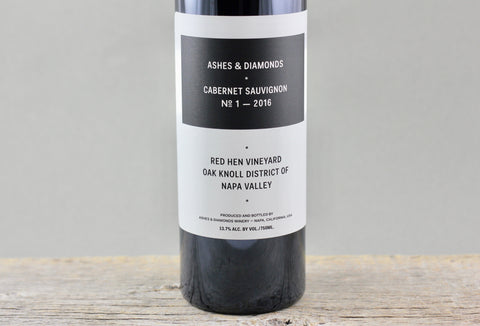 2016 Ashes & Diamonds Red Hen Vineyard Cabernet Sauvignon No. 1