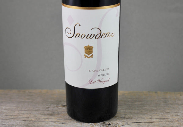 2018 Snowden Lost Vineyard Napa Valley Merlot