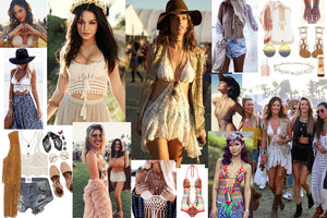 Coachella inspiration festival fashion outfit ideas as seen on vanessa hudgens jhene aiko alessandra ambrosio gypsylovinlight