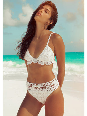 Filigree High-waisted Bikini Brazilian Bottom