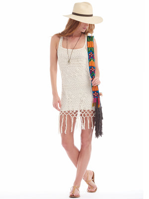 Racer-back Tassel Dress