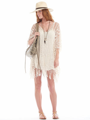 Fringe Poncho Dress