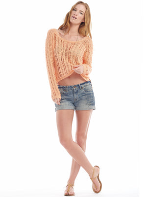 Summer Breeze Cropped Sweater