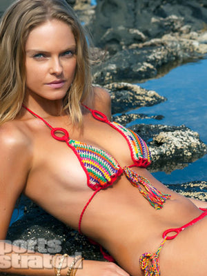 Aztec Stripe Ring Bikini Bottom