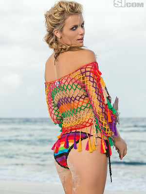 Rainbow Aztec Fringe Top