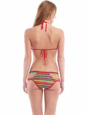 Aztec Stripe Boy-Cut Bikini Bottom