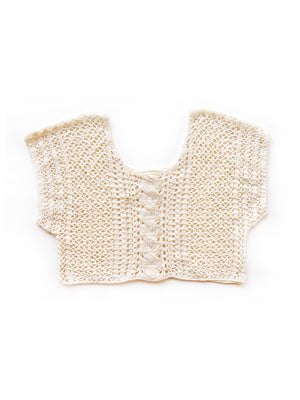Cable Stitch Crop Top