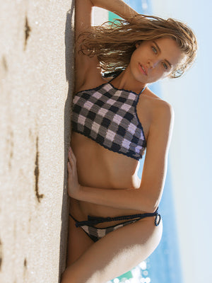Gingham Halter Top