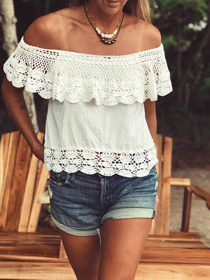 Santorini Off Shoulder Top