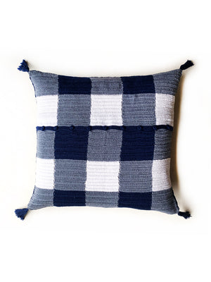 Gingham Crochet Cushion Cover with Tassels - PREORDER