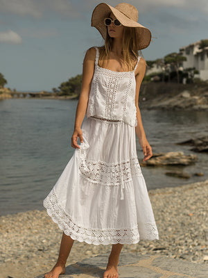 Filigree Midi Skirt