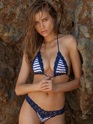 Sailor Stripe Bella Bikini Top