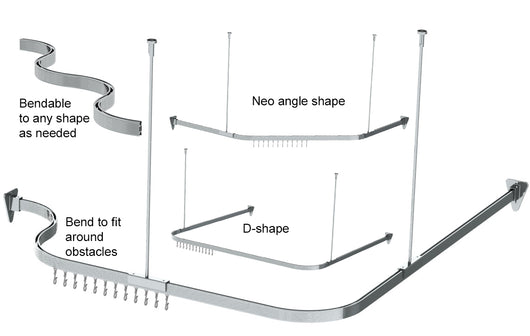 Bendable Shower Curtain Rod
