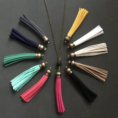 Bronze Diffusing Tassel + Lava Necklace