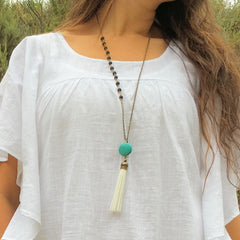 Evision Tassel Necklace with Howlite