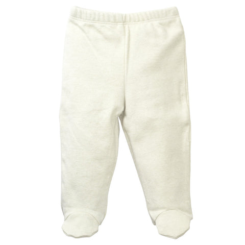 Baby Footed Pajamas Pants Beige
